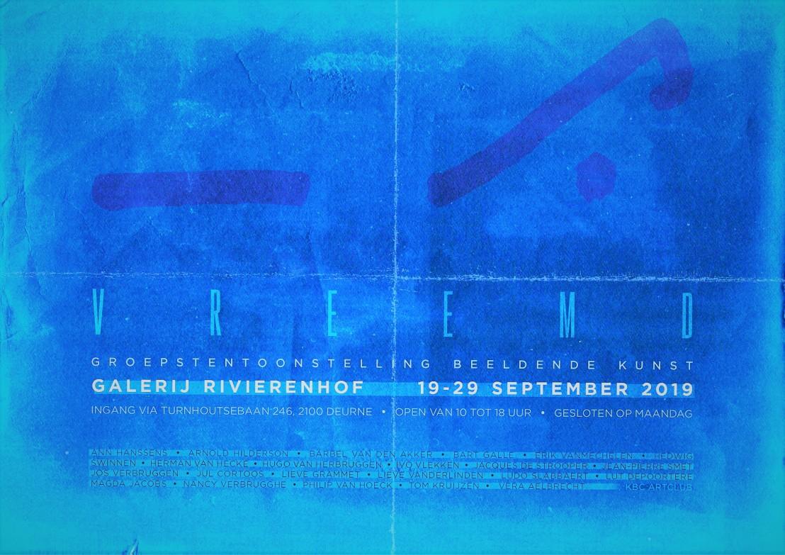 Affiche VREEMD - versie 1 blauw[429]